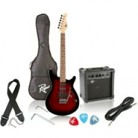 Rogue Rocketeer Electric Guitar Pack Red Burst