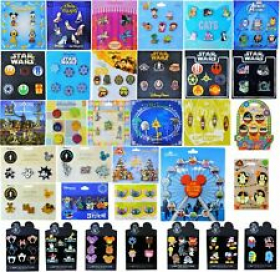 Disney Booster Pack Sets - Assorted Pin Sets on Cards - Guaranteed 25 Pins! NEW