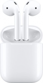 Apple - Geek Squad Certified Refurbished AirPods with Charging Case (Latest Model) - White