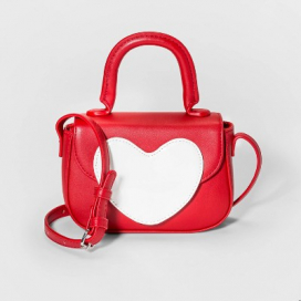 Girls' Heart Crossbody Purse - Cat and Jack™ Red