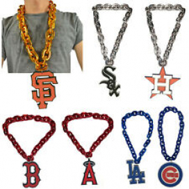 New MLB PICK YOUR TEAMS Fan Chain Necklace Foam Magnet - Stadium Approved
