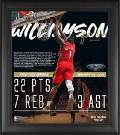 "Zion Williamson New Orleans Pelicans Framed 15"" x 17"" NBA Debut Collage"