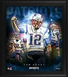 """Tom Brady New England Patriots Framed 15"""" x 17"""" Stars of the Game Collage"""