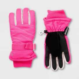 Girls' Solid Promo SKI Gloves - C9 Champion® Pink
