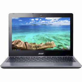 """Acer - 11.6"""" Chromebook - Intel Celeron - 2GB Memory - 16GB Solid State Drive - Pre-Owned - Black"""