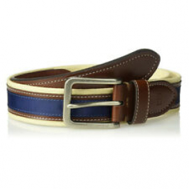 Tommy Hilfiger Men's 11TL02X044 35mm Premium Canvas Leather Belt