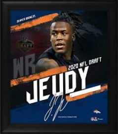 "Jerry Jeudy Denver Broncos Frmd 15"" x 17"" 2020 NFL Draft Day Collage - Facsimile"