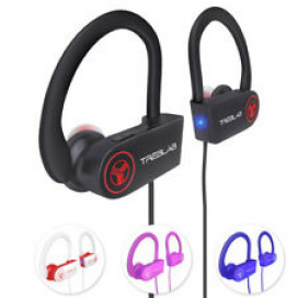 TREBLAB XR100 Bluetooth Sport Headphones Best Wireless Earbuds for Running Mic