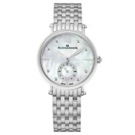 Alexander Ladies Designer Swiss Made Mother of Pearl Stainless Quartz Watch