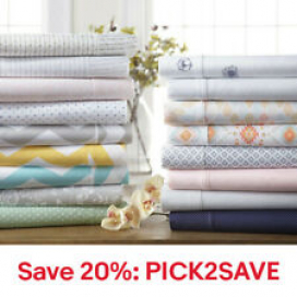 Home Collection Ultra Soft Patterned Sheet Set - 11 Choices,20% off:PICK2SAVE