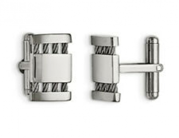 Mens Cuff Links in Stainless Steel
