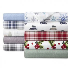 North Pole Trading Co. Flannel Sheet Set