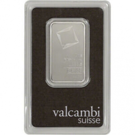 1 oz. Platinum Bar - Valcambi Suisse - 999.5 Fine in Assay