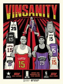 """Phenom Gallery Vince Carter Vinsanity 18"""" x 24"""" Limited Edition Serigraph"""