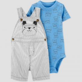 Baby Boys' Dog Top & Bottom Set - Just One You® made by carter's Navy/Gray