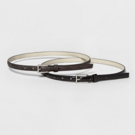 Women's Belt with Buckle Closure - A New Day™ Black S