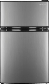 Insignia™ - 3.0 Cu. Ft. Mini Fridge - Stainless steel
