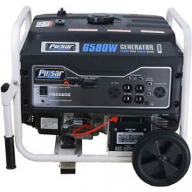 Pulsar 6,580 Watts Gas-Powered Portable Generator Electric Start PG6580E