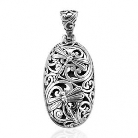 925 Sterling Silver Stylish Unique Dragonfly Pendant Gift Jewelry for Women