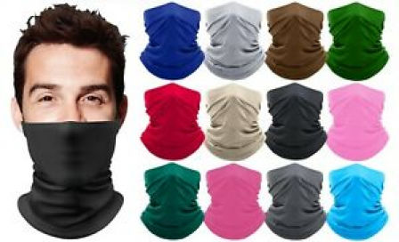 Moisture Wicking Breathable Stretch Fabric Gaiter Mask Scarf Bandana Colors New