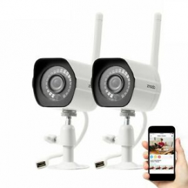 Zmodo 2 Pack 1080P HD Smart WiFI IR IP Network Security Camera Kit Night Vision
